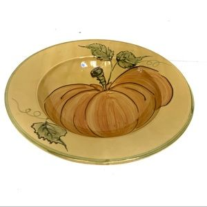 Williams Sonoma Large Serving Bowl With Pumpkin